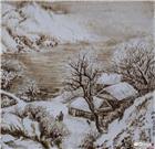 山村雪景图